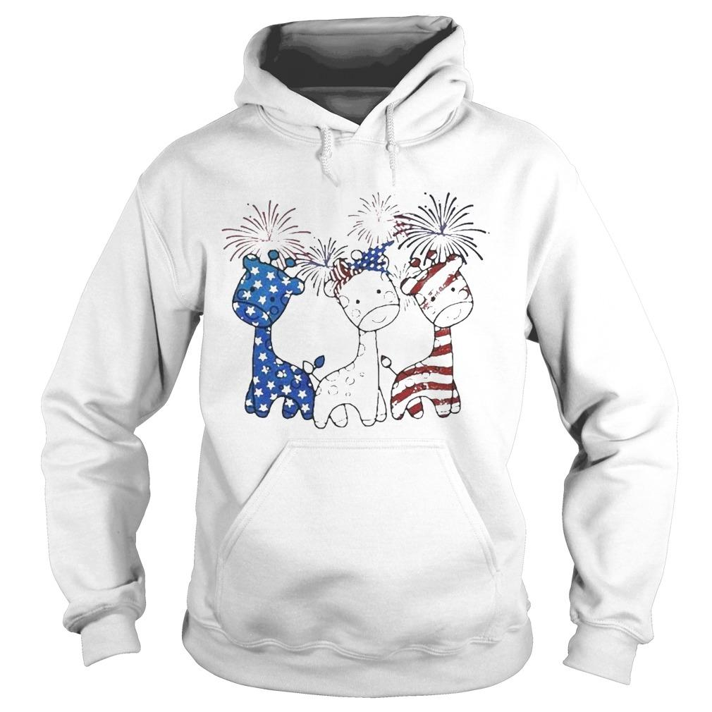 Independence Day Giraffes Firework Hoodie