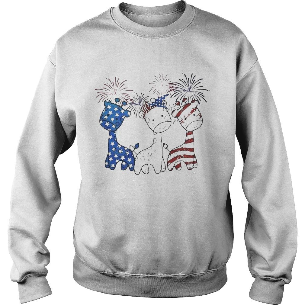 Independence Day Giraffes Firework Sweater