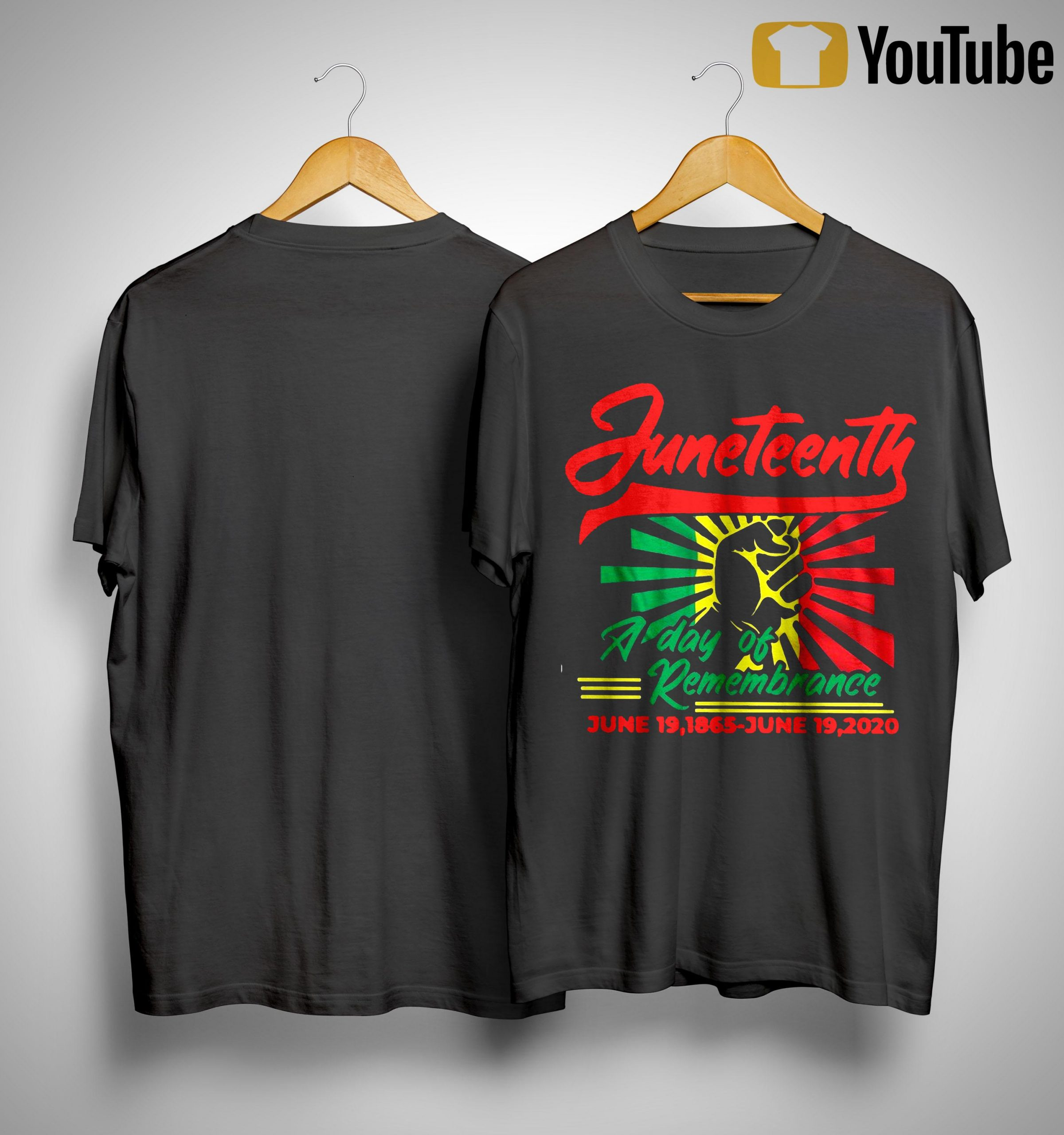 Juneteenth A Day Of Remembrance June 19 1865 June 19 2020 Shirt