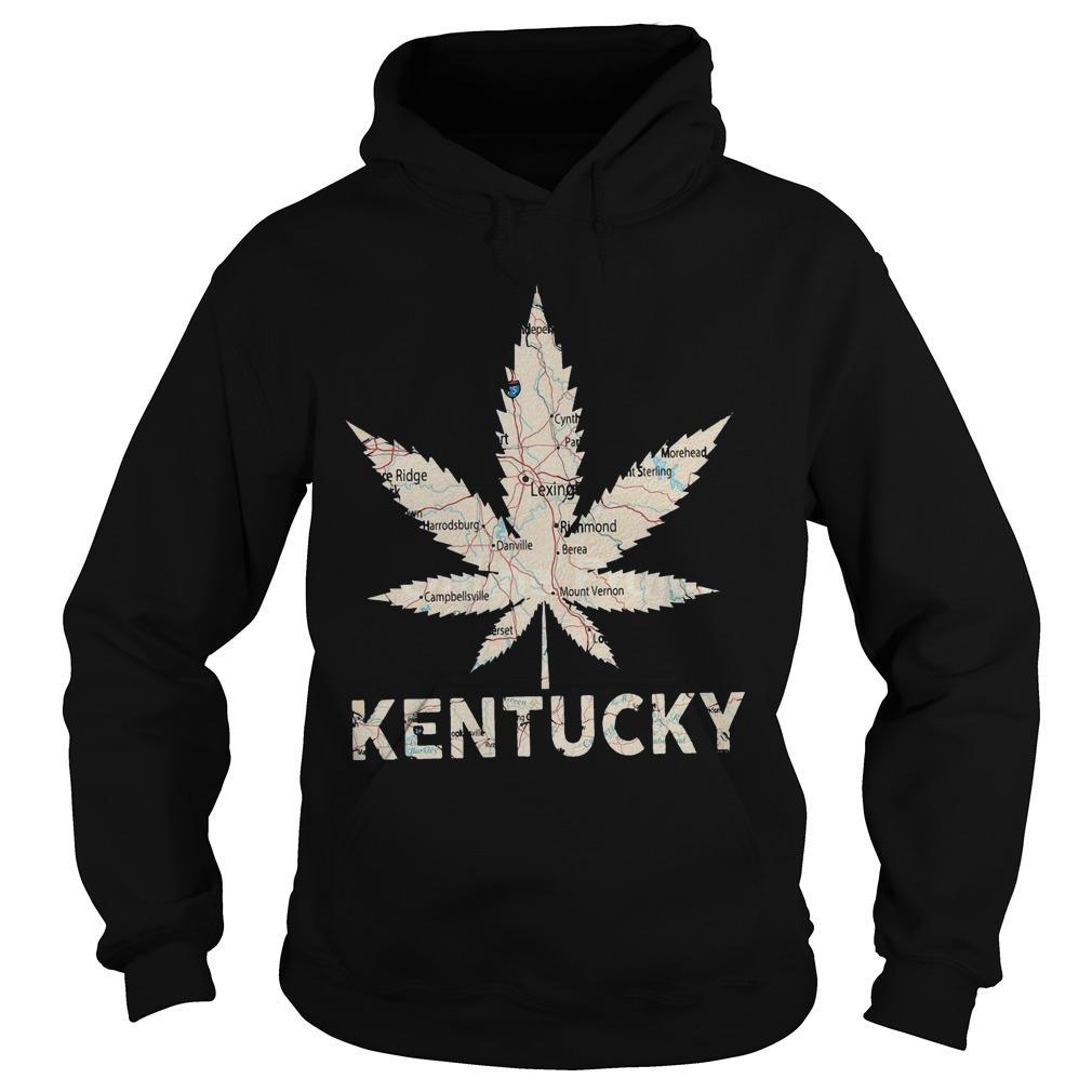 Map Weed Kentucky Hoodie