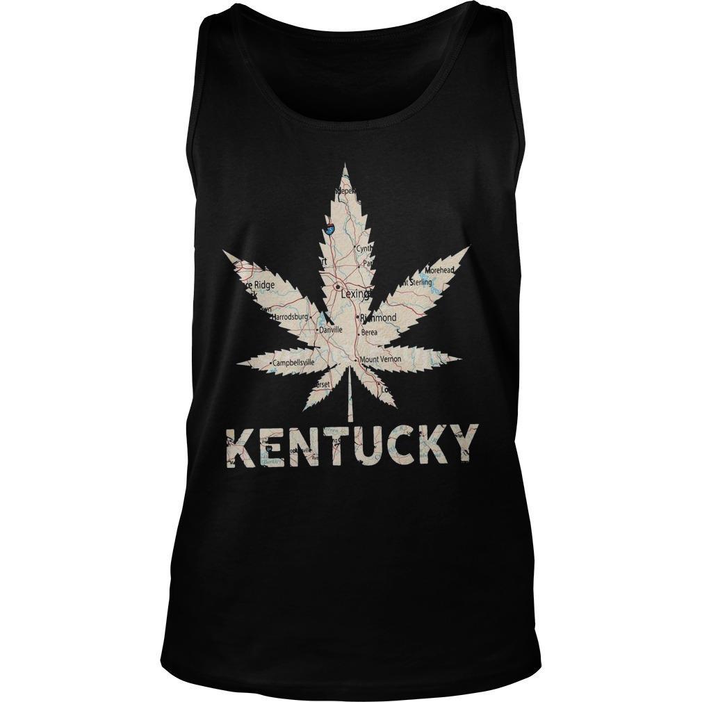 Map Weed Kentucky Tank Top