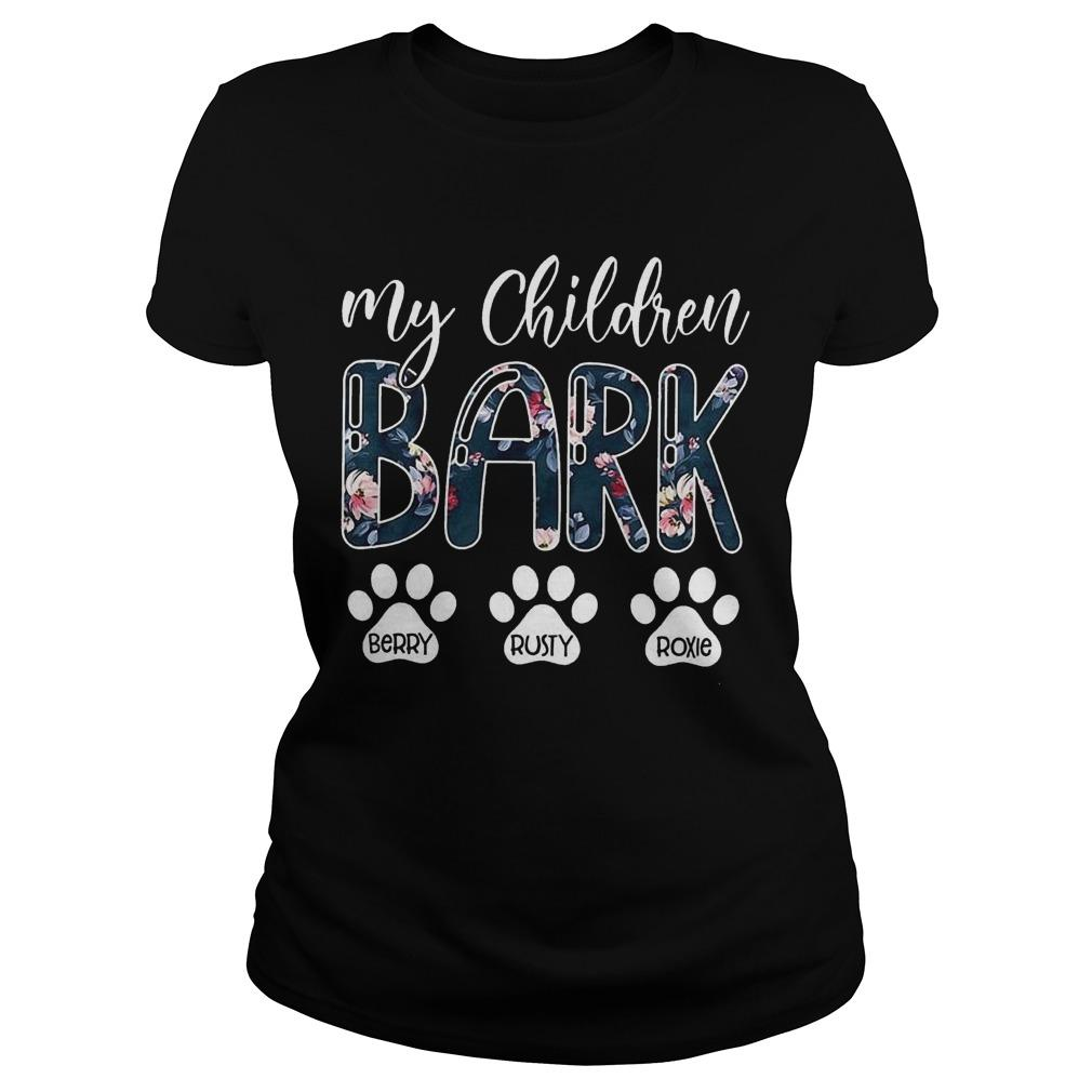 My Children Bark Berry Rusty Roxie Longsleeve