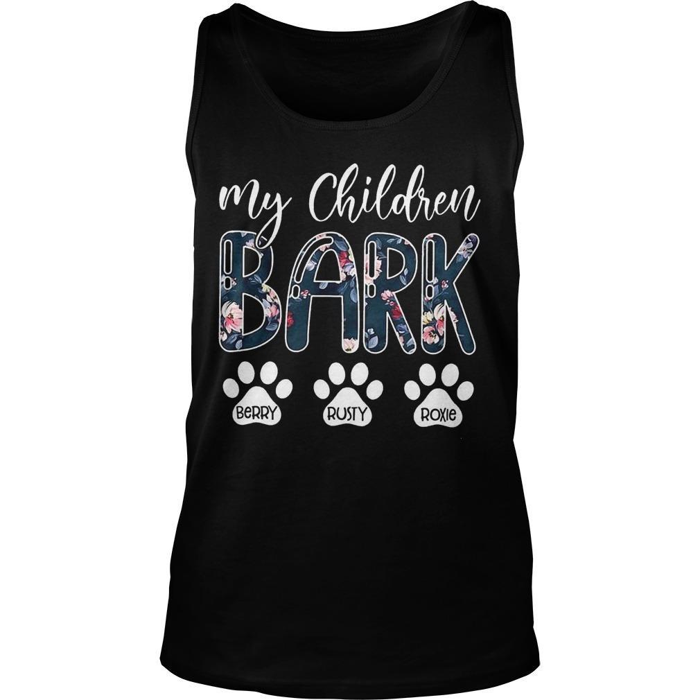 My Children Bark Berry Rusty Roxie Tank Top