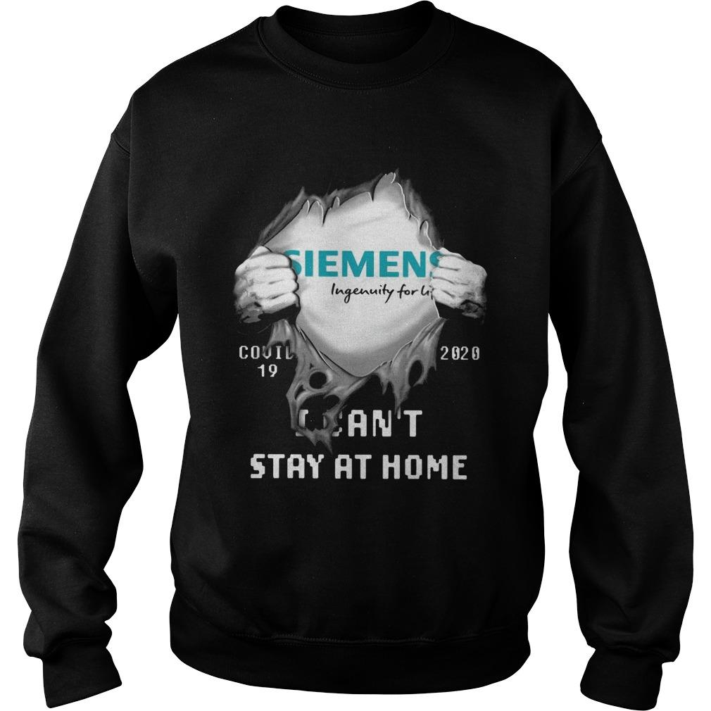 Siemens Ingenuity For Life Covid 19 2020 I Can't Stay At Home Sweater