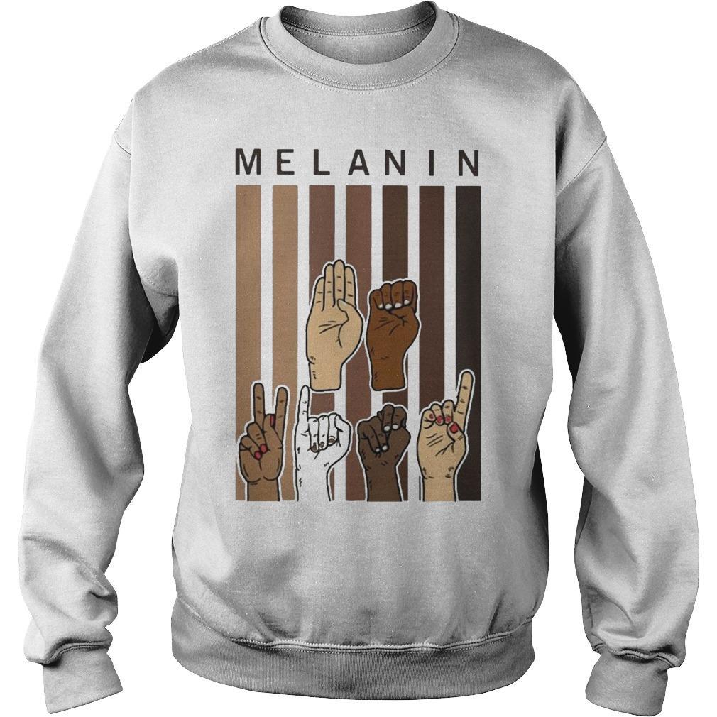 Sign Language Hands Melanin Sweater