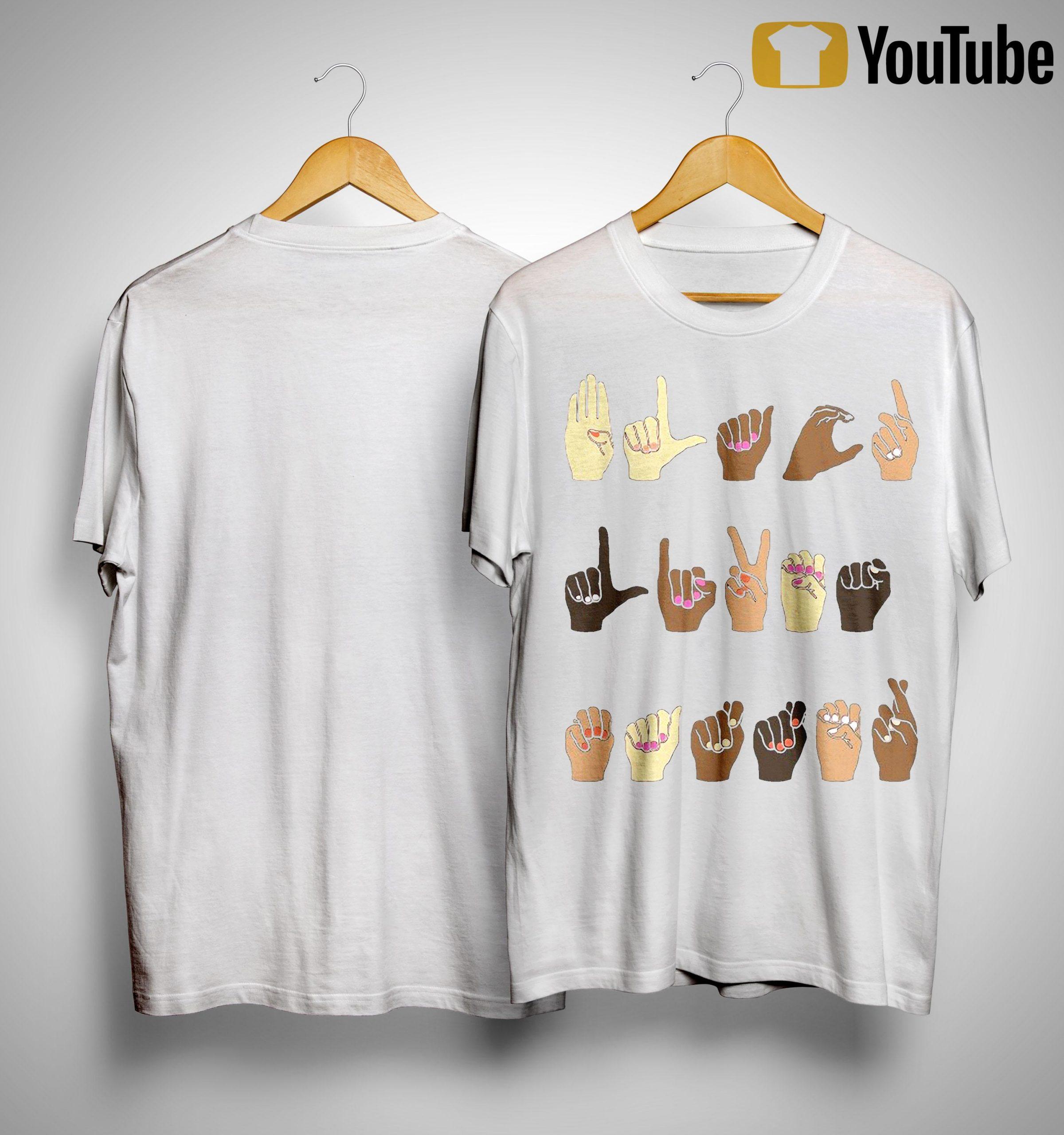 Sign Language Hands Of Love Shirt