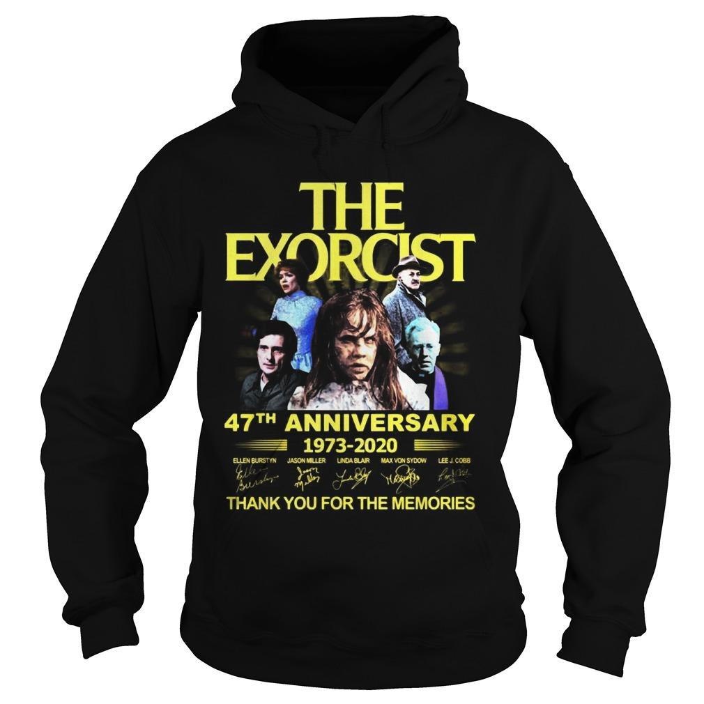 The Exorcist 47th Anniversary 1973 2020 Thank You For The Memories Hoodie