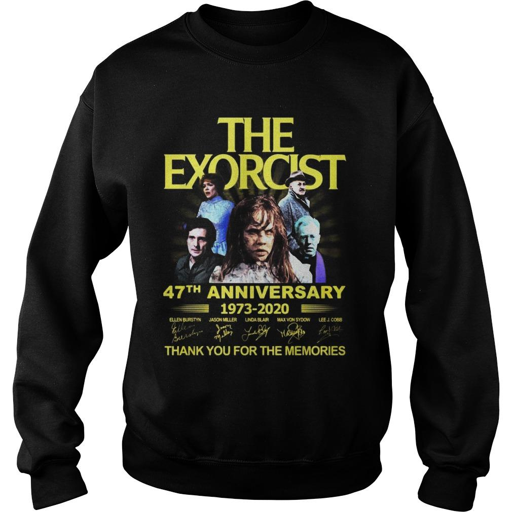 The Exorcist 47th Anniversary 1973 2020 Thank You For The Memories Sweater