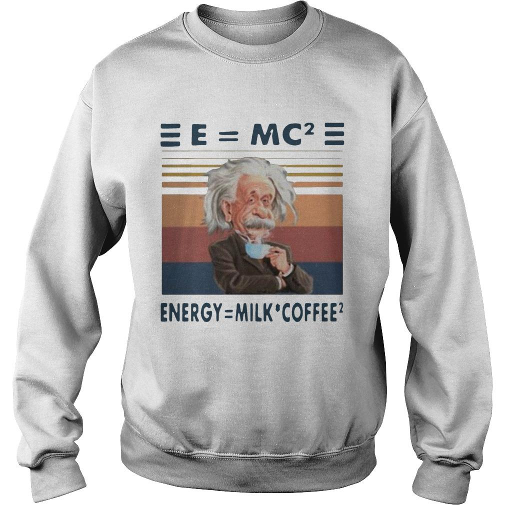 Vintage Albert Einstein E Mc2 Energy Milk Coffee Sweater