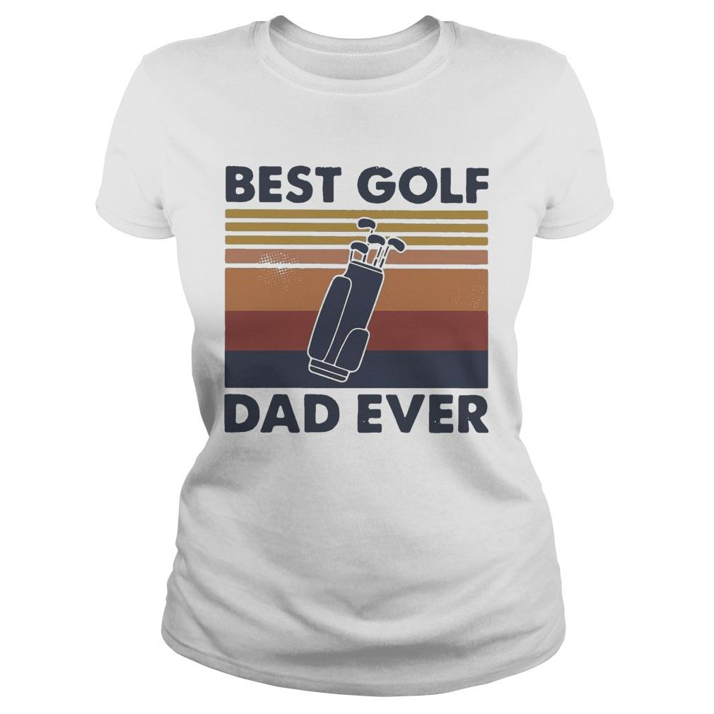 Vintage Best Golf Dad Ever Longsleeve