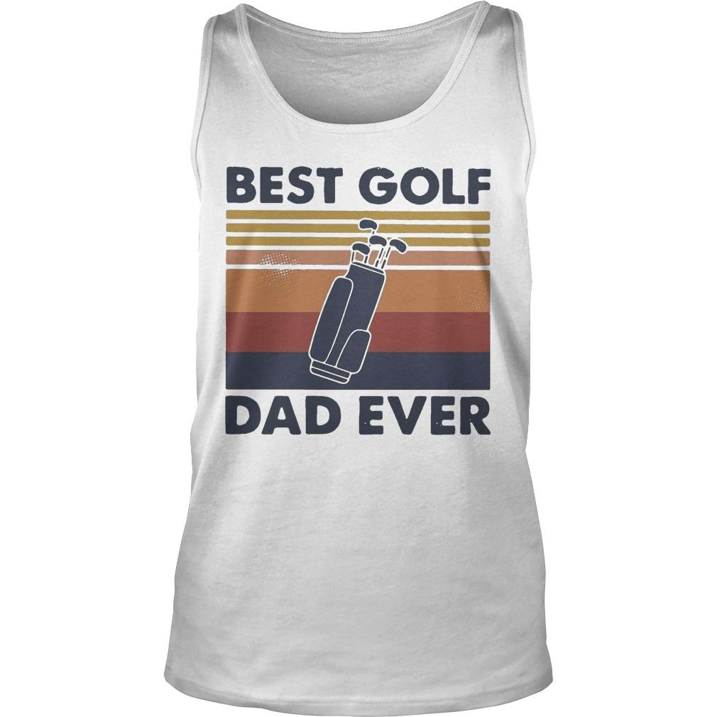 Vintage Best Golf Dad Ever Tank Top