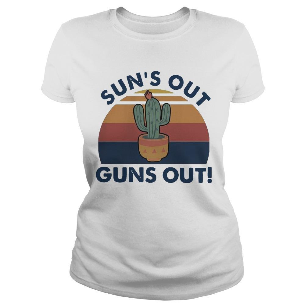 Vintage Cactus Sun's Out Guns Out Longsleeve