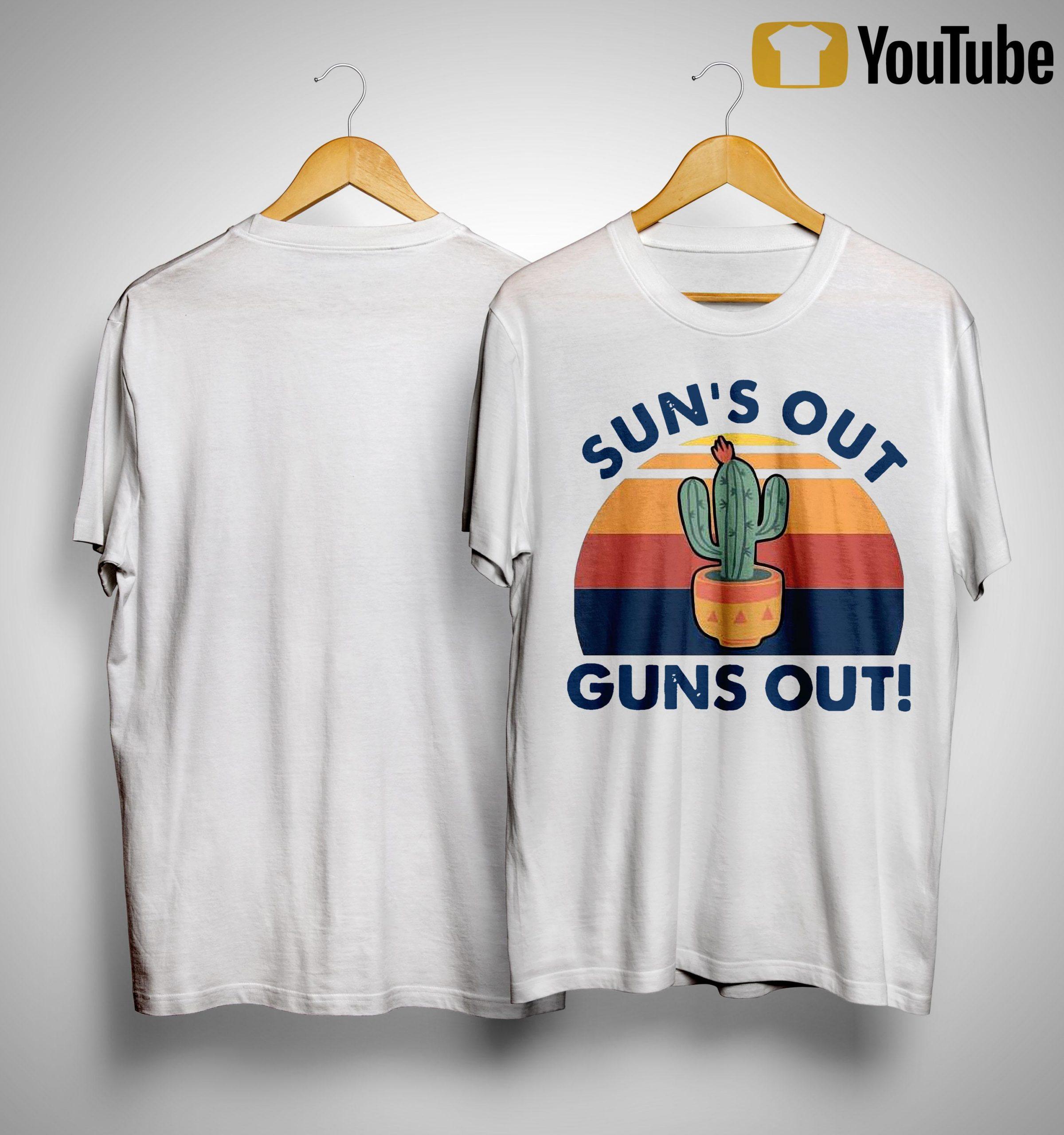 Vintage Cactus Sun's Out Guns Out Shirt