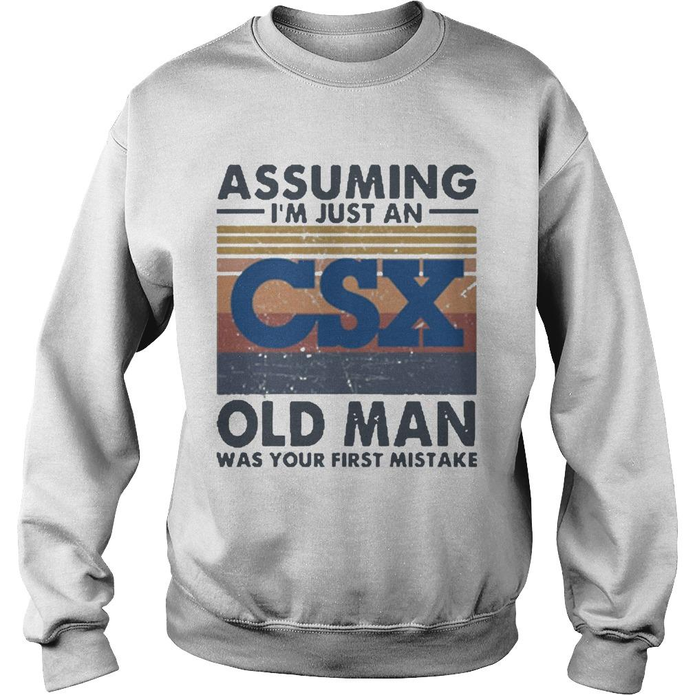 Vintage Csx Corporation Assuming I'm Just An Old Man Sweater