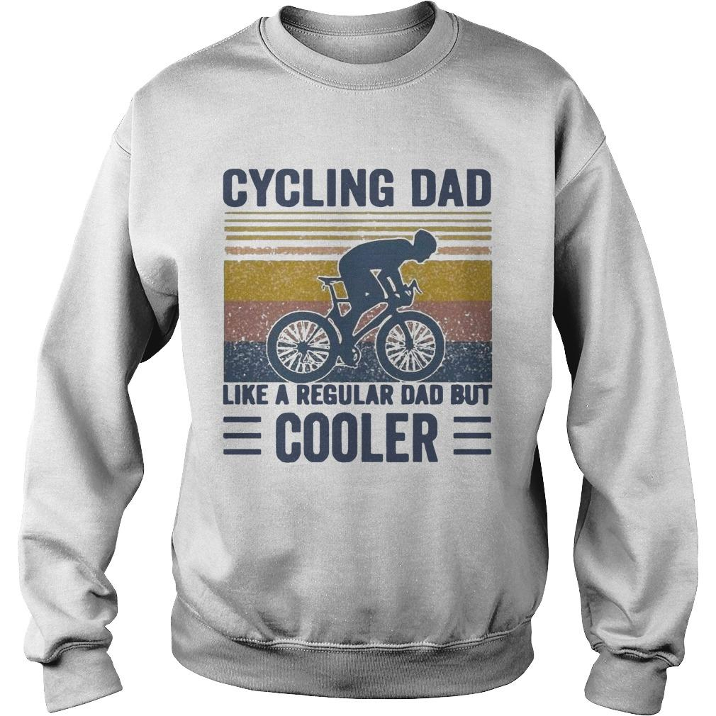 Vintage Cycling Dad Like A Regular Dad But Cooler Sweater