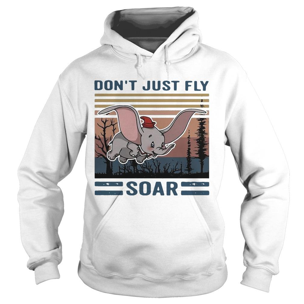 Vintage Elephant Don't Just Fly Soar Hoodie
