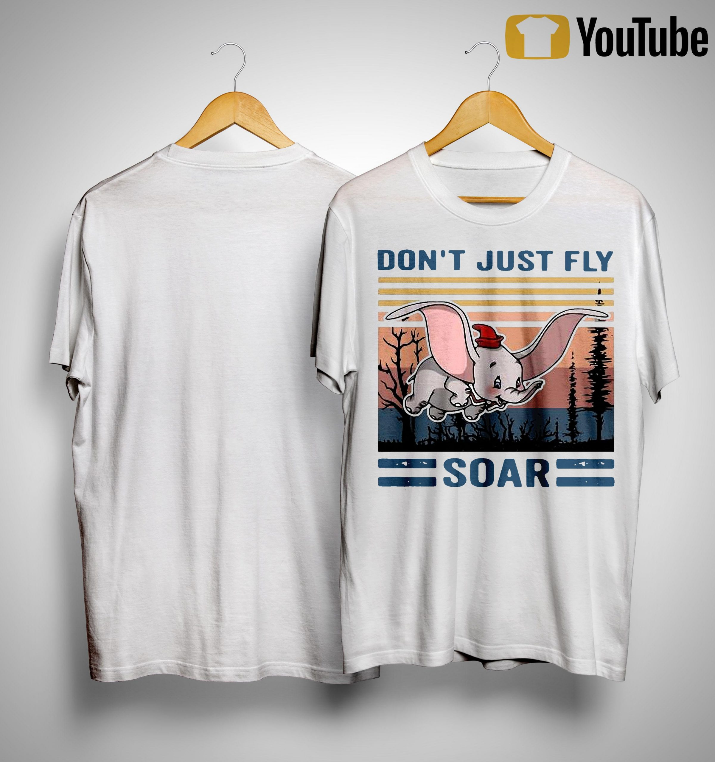 Vintage Elephant Don't Just Fly Soar Shirt