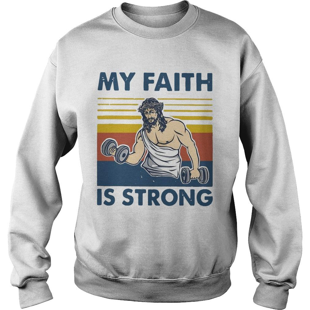 Vintage Jesus My Faith Is Strong Sweater