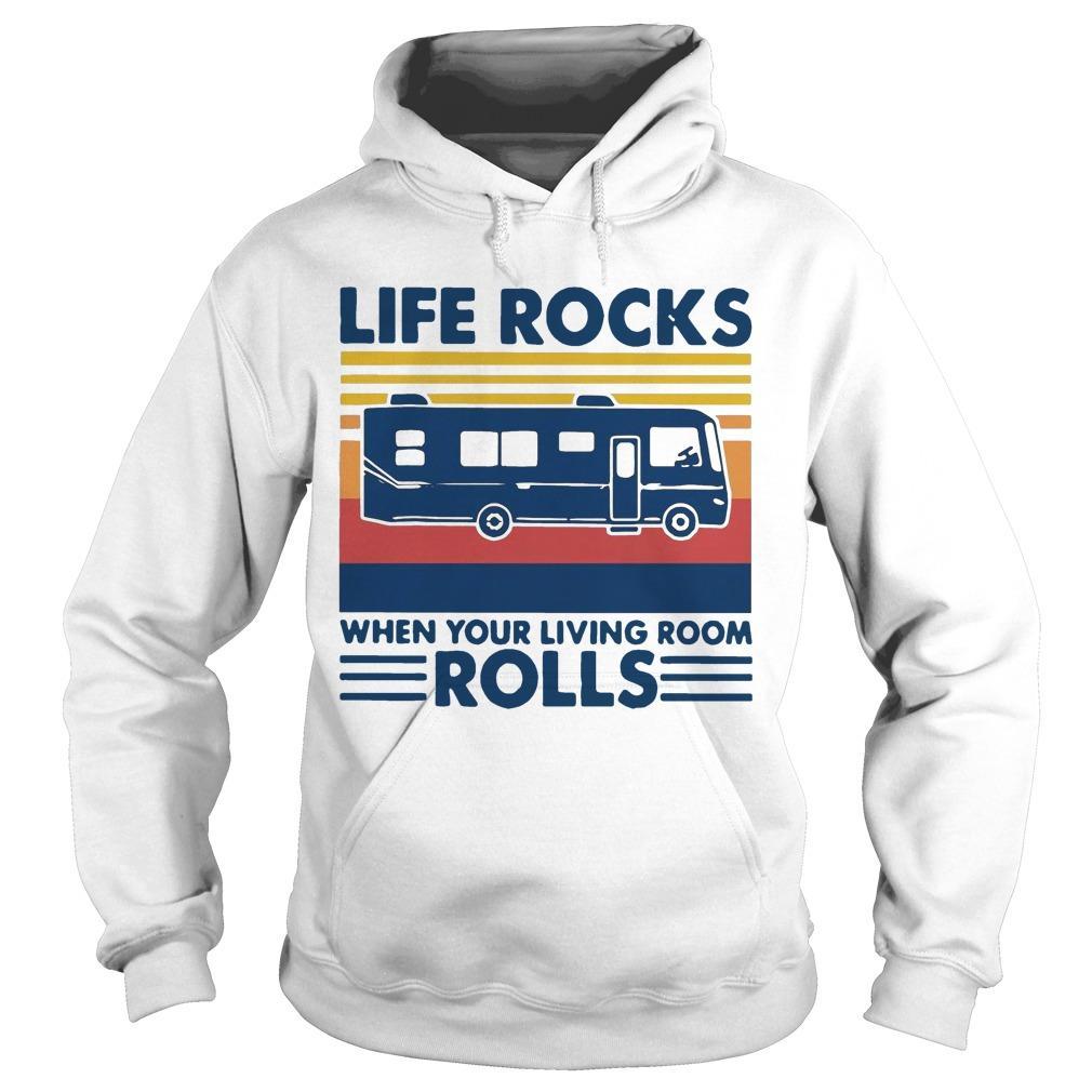 Vintage Life Rocks When Your Living Room Rolls Hoodie