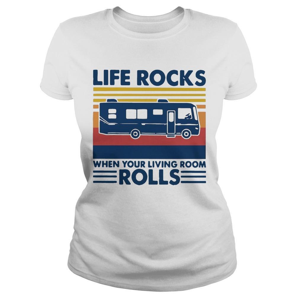 Vintage Life Rocks When Your Living Room Rolls Longsleeve