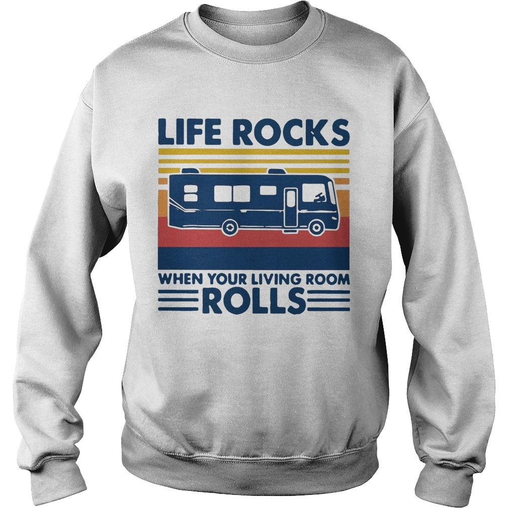 Vintage Life Rocks When Your Living Room Rolls Sweater