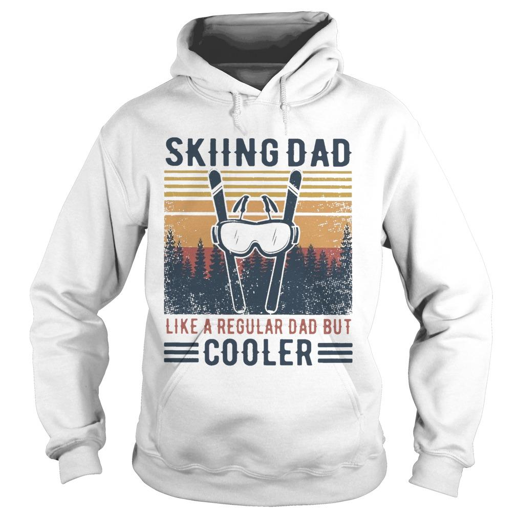 Vintage Skiing Dad Like A Regular Dad But Cooler Hoodie