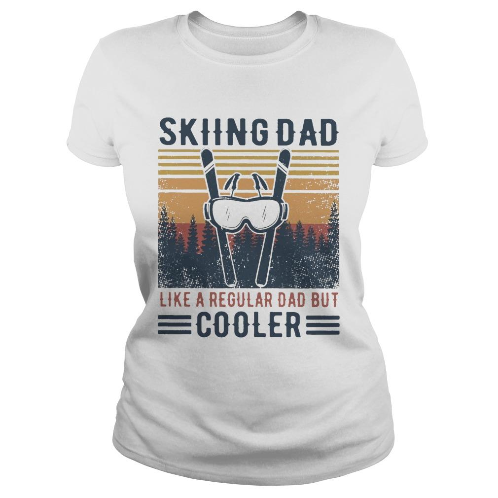 Vintage Skiing Dad Like A Regular Dad But Cooler Longsleeve