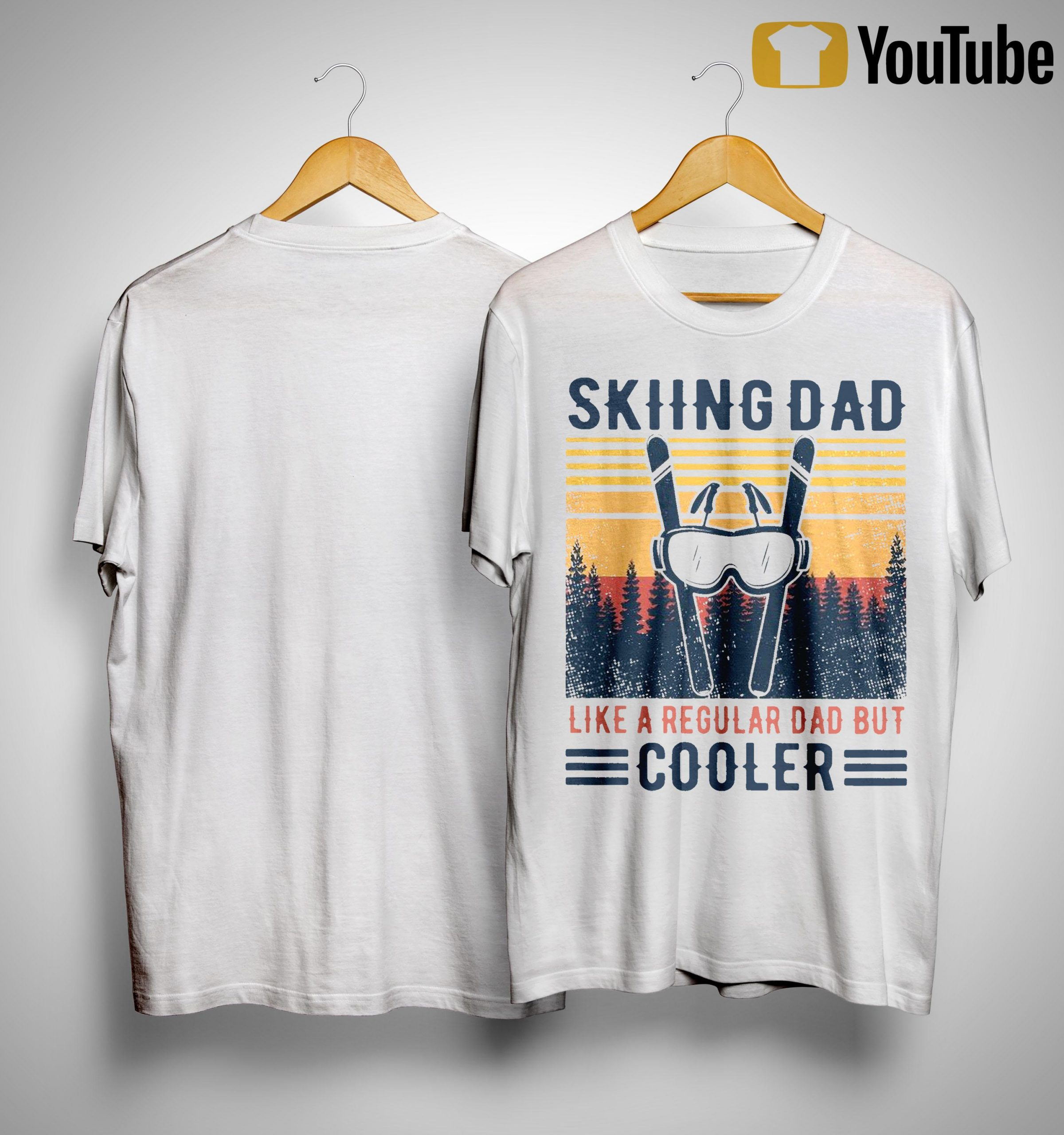 Vintage Skiing Dad Like A Regular Dad But Cooler Shirt