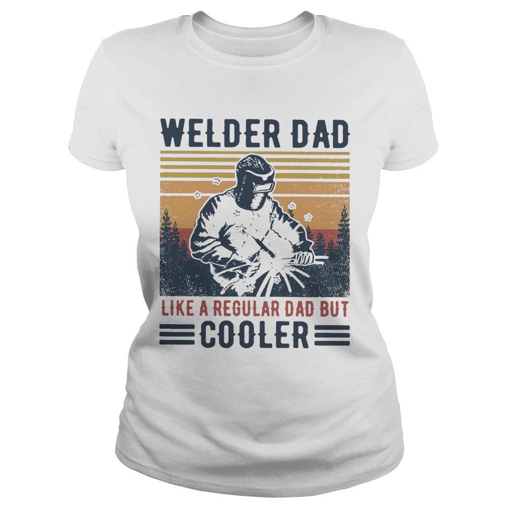 Vintage Welder Dad Like A Regular Dad But Cooler Longsleeve