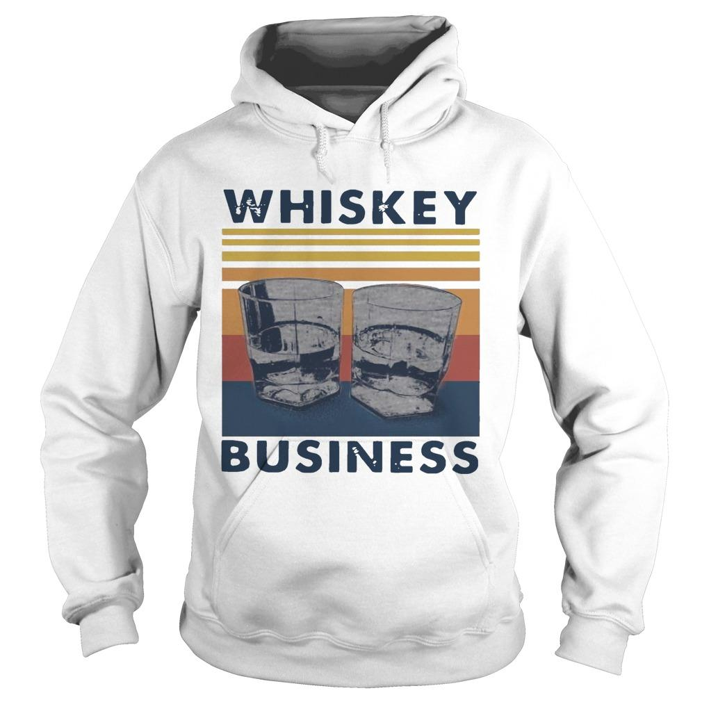 Vintage Whiskey Business Hoodie