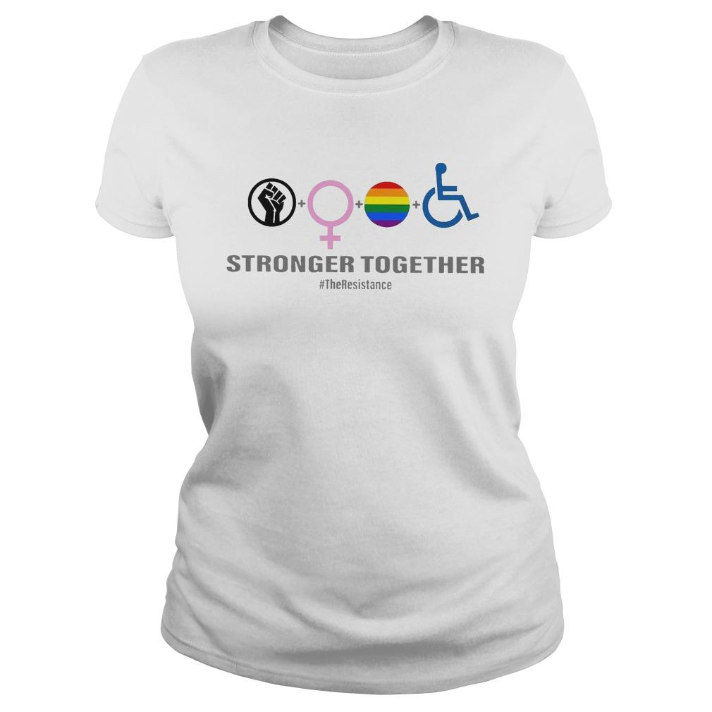Black Woman Lgbt Stronger Together Longsleeve
