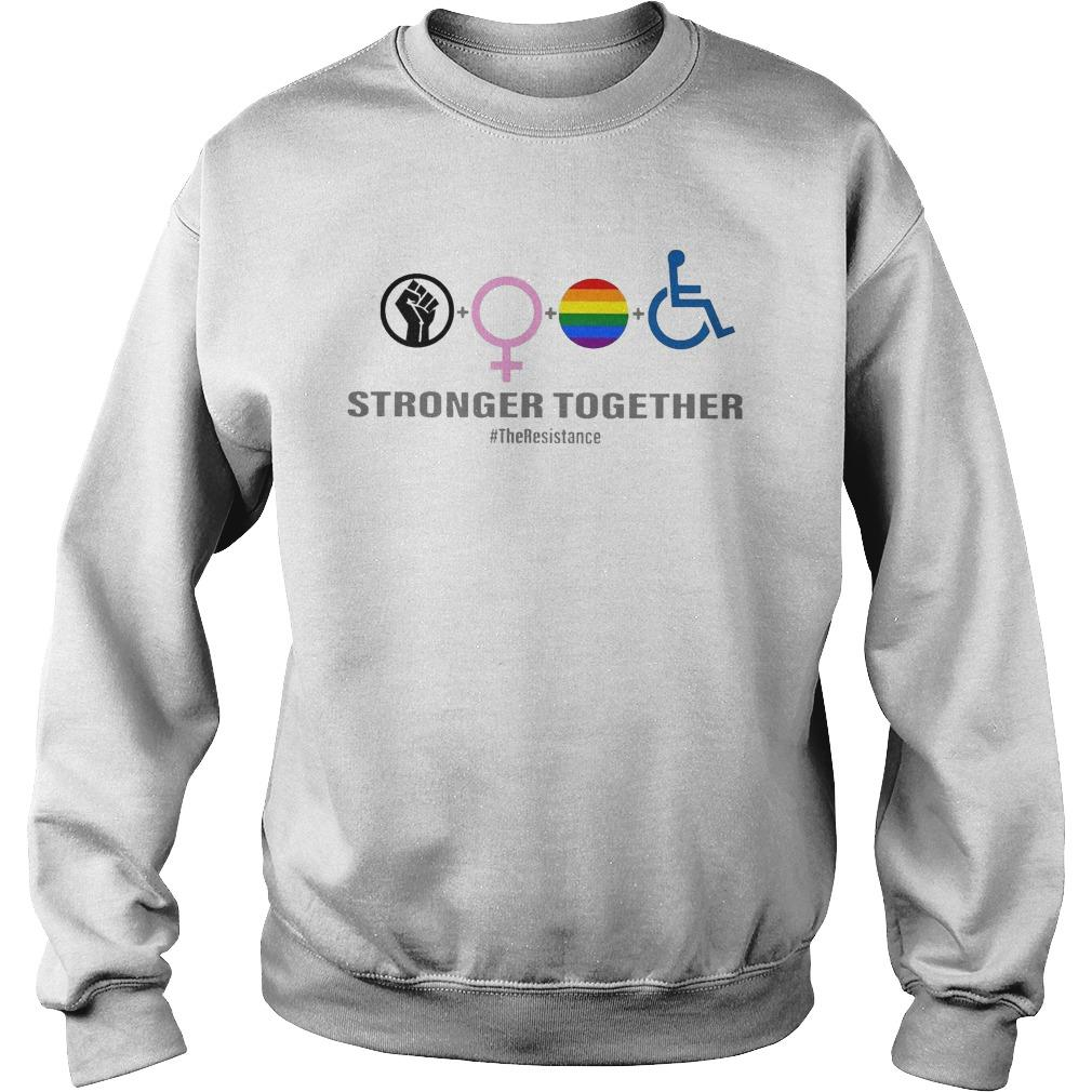 Black Woman Lgbt Stronger Together Sweater