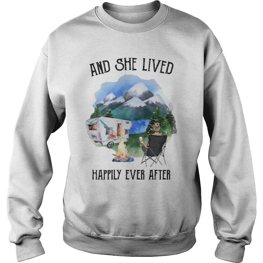 Camping And She Lived Happily Ever After Sweater