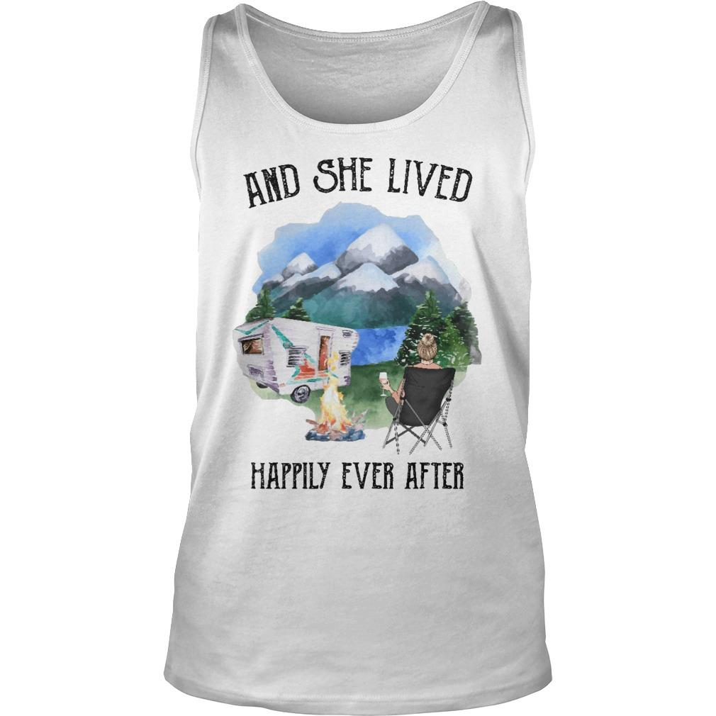 Camping And She Lived Happily Ever After Tank Top