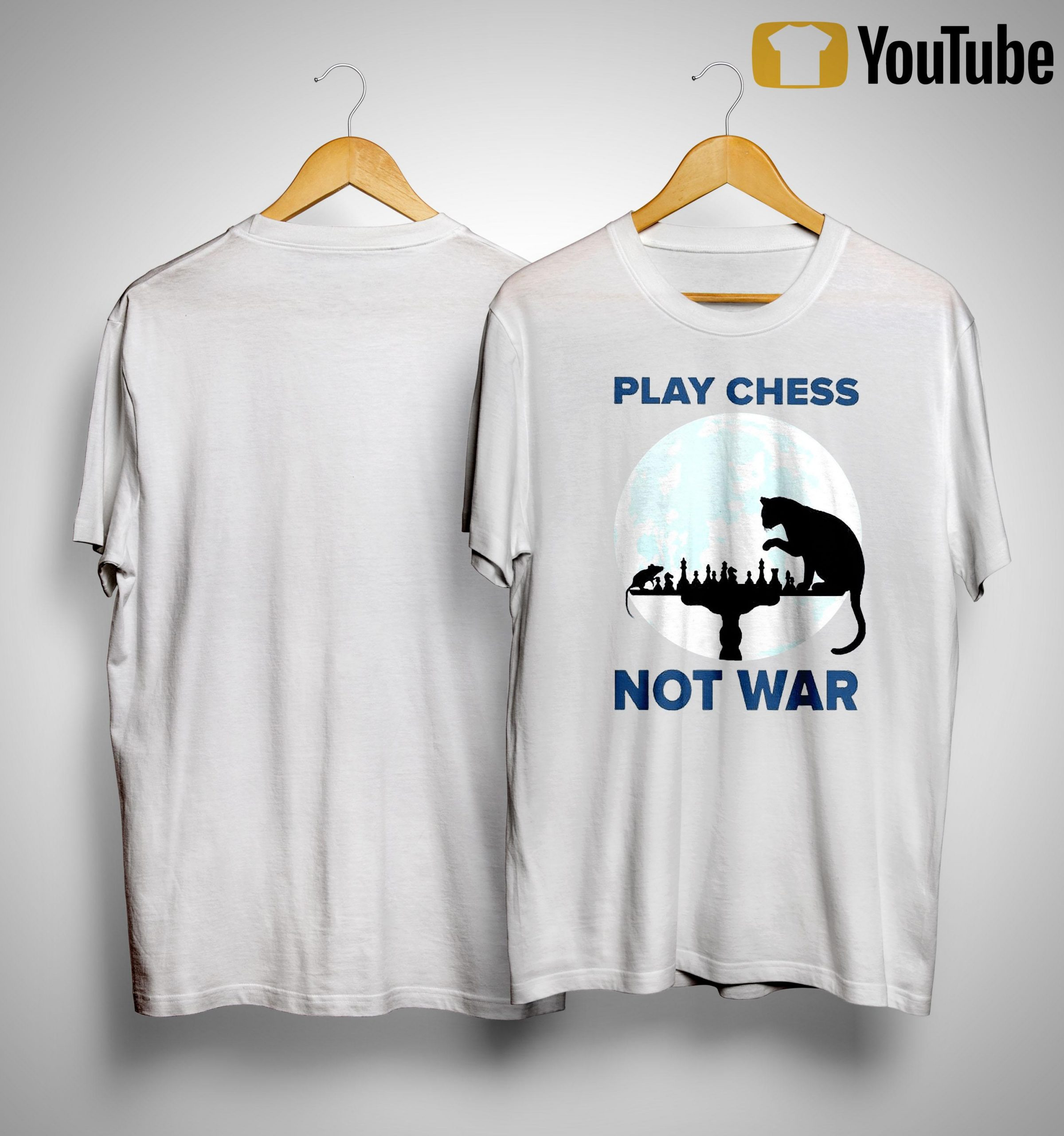 Cat Play Chess Not War Shirt