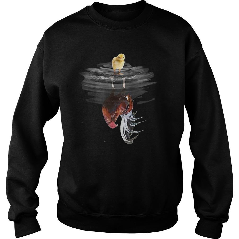 Chick Mirror Reflection Chicken Sweater