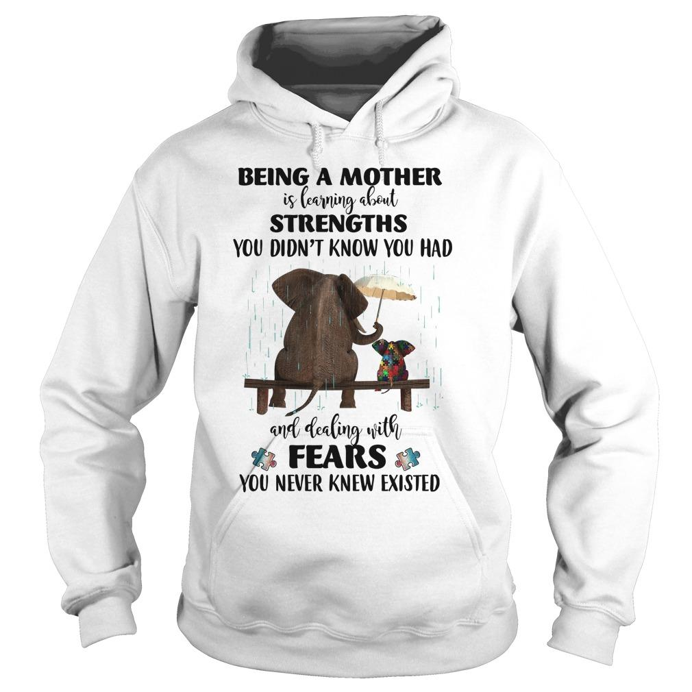 Elephant Autism Being A Mother Is Learning About Strengths Fears Hoodie