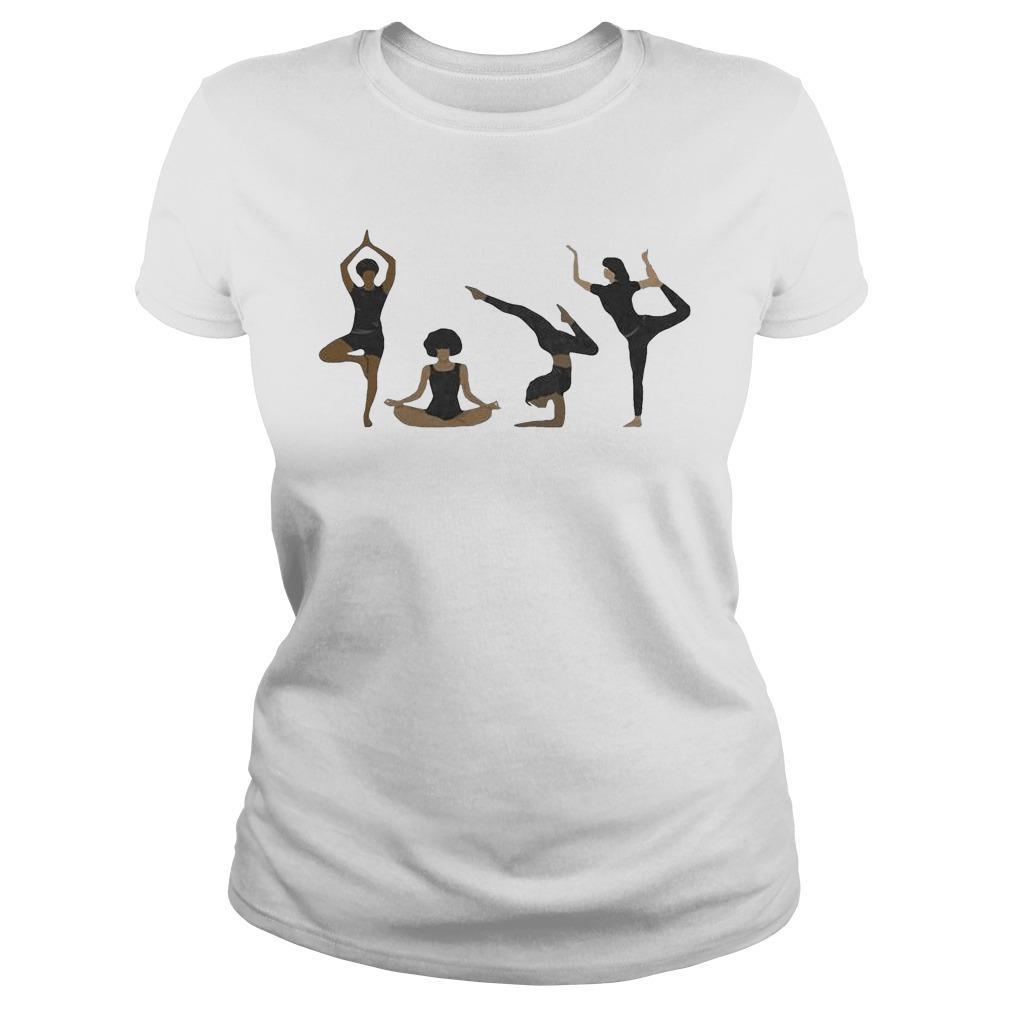 Four Yoga Postures Team Girl Longsleeve