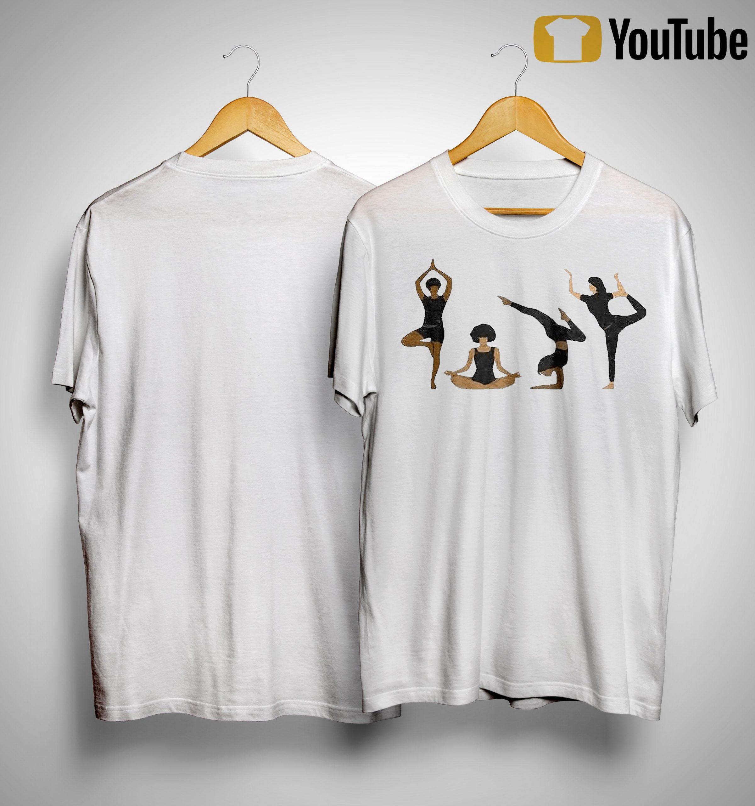 Four Yoga Postures Team Girl Shirt