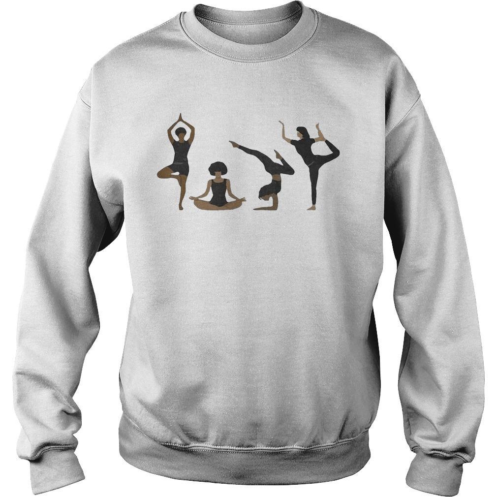 Four Yoga Postures Team Girl Sweater