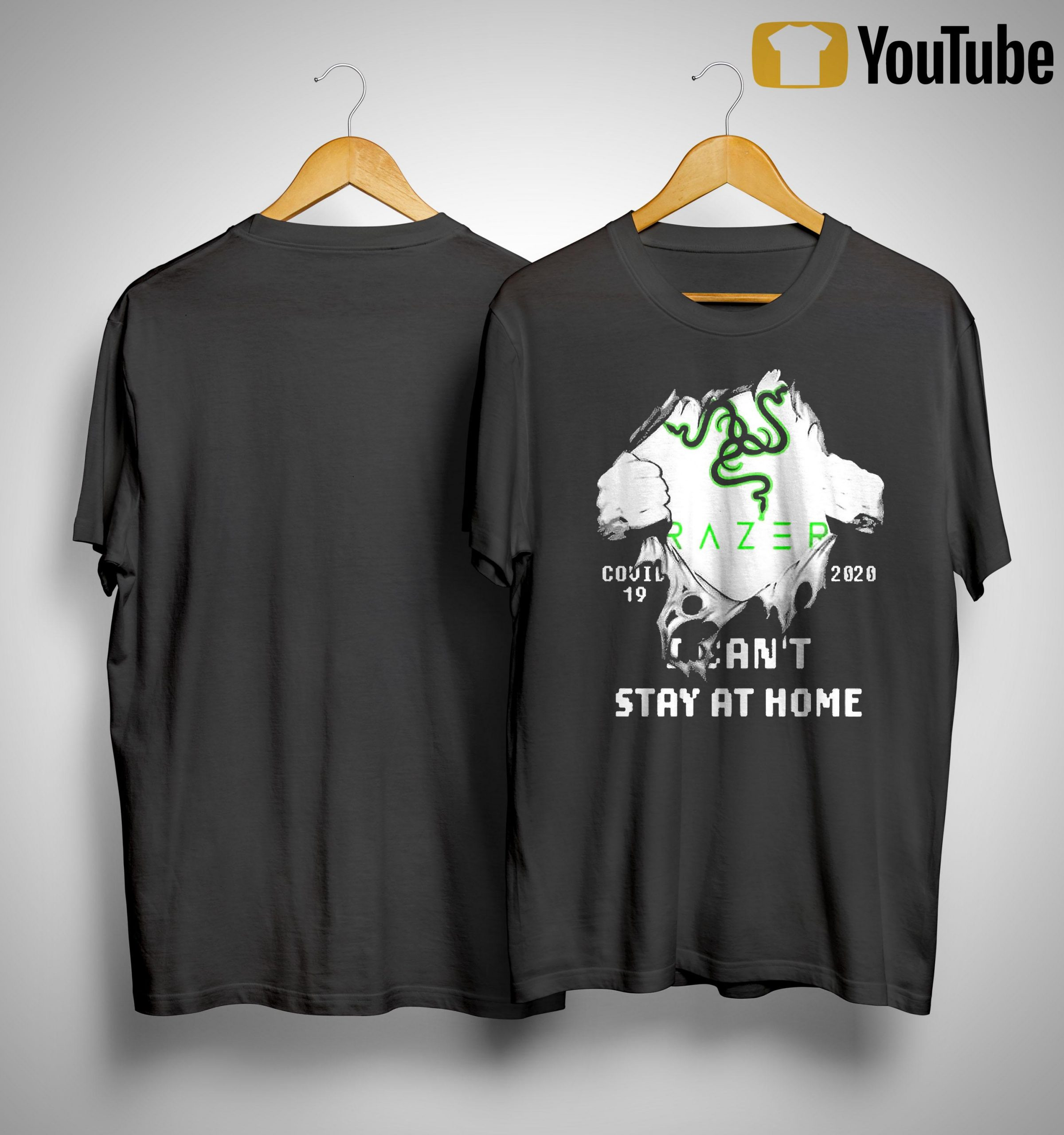 Inside Me Razer Covid 19 2020 I Can't Stay At Home Shirt