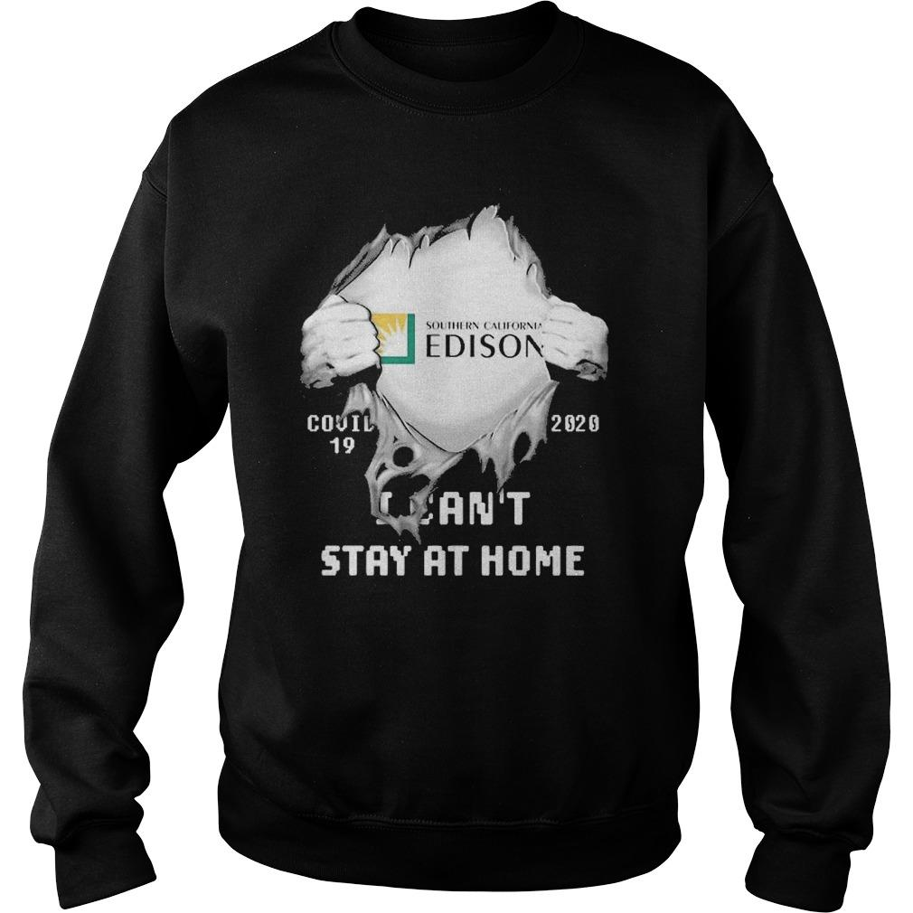 Inside Me Southern California Edison Covid 19 2020 I Can't Stay At Home Sweater