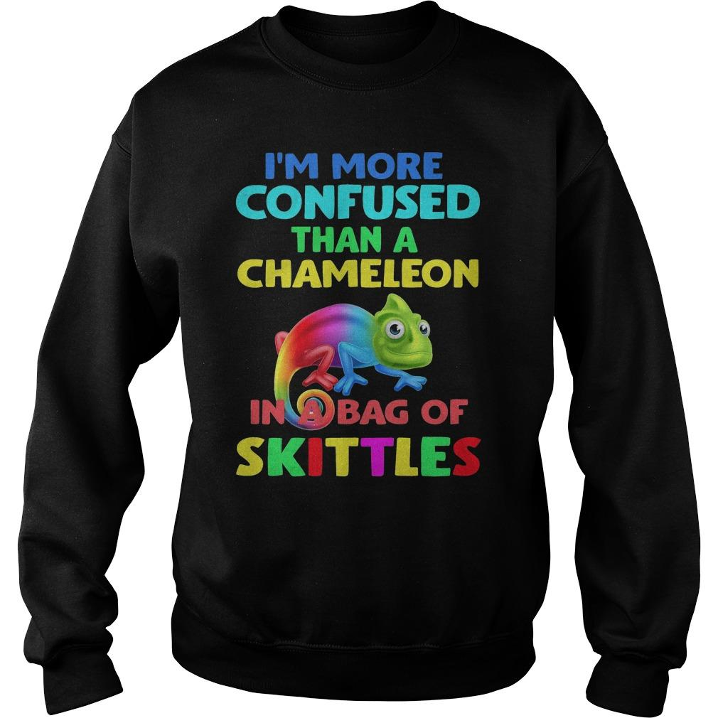 Lgbt I'm More Confused Than A Chameleon In A Bag Of Skittles Sweater