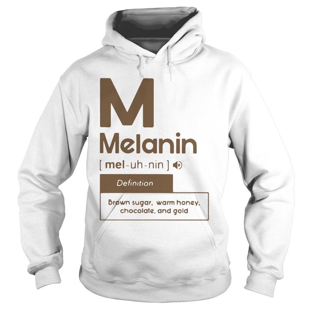 Melanin Definition Brown Sugar Warm Honey Chocolate And Gold Hoodie