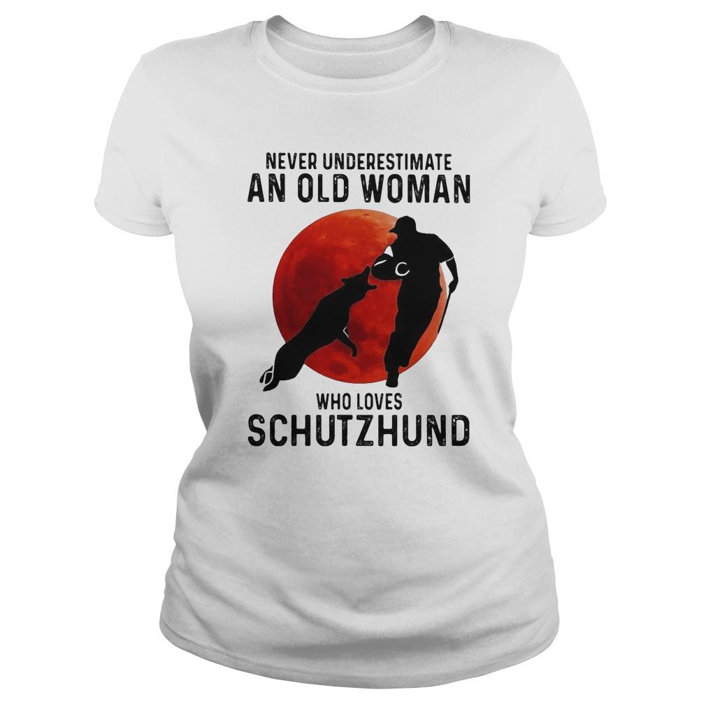 Never Underestimate An Old Woman Who Loves Schutzhund Longsleeve