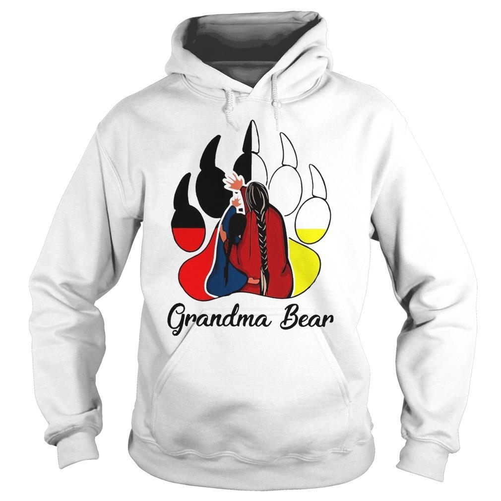 Red Indian Grandma Bear Hoodie
