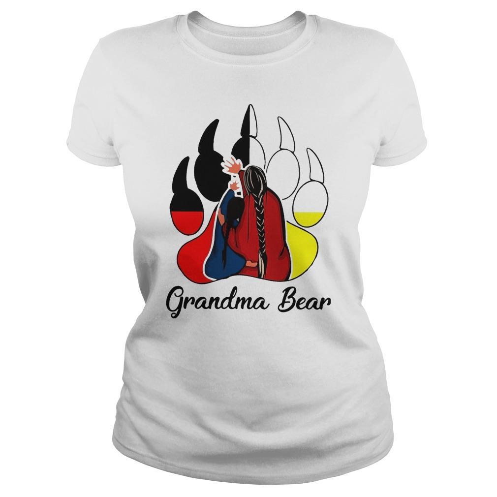 Red Indian Grandma Bear Longsleeve