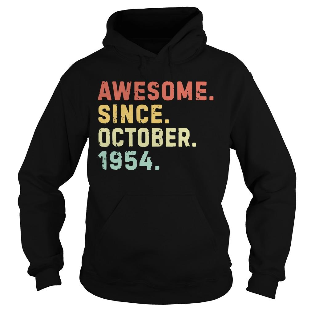 Vintage Awesome Since October 1954 Hoodie