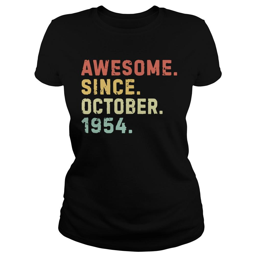 Vintage Awesome Since October 1954 Longsleeve