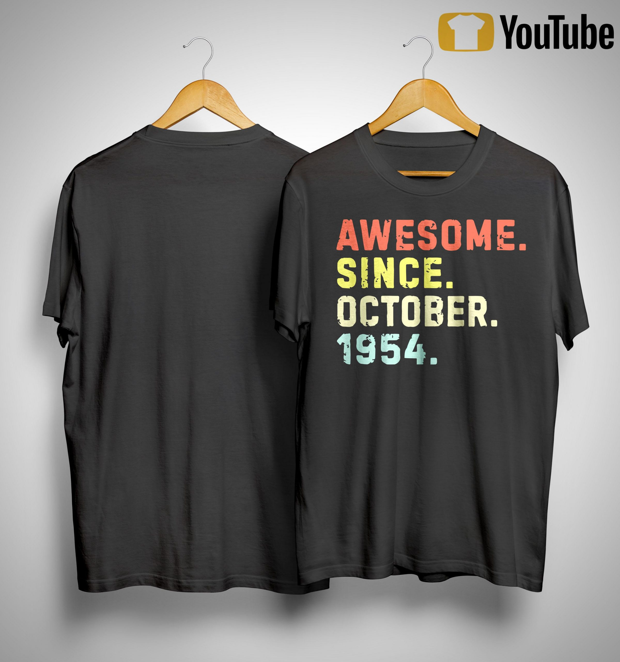 Vintage Awesome Since October 1954 Shirt